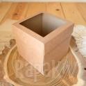 Exploding box z okienkiem 10 cm kraft