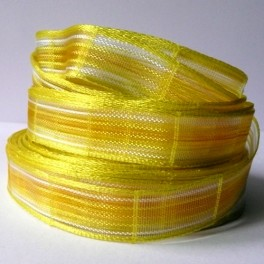 """Wstążka """"siateczka"""" 15 mm żółta"""
