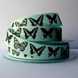 Wstążka w motyle 15 mm błękitna