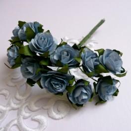 Różyczki mini 15 mm niebieskie