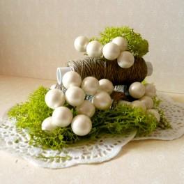 Kule perłowe 10 mm białe 10 szt.