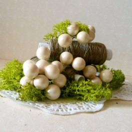 Kule perłowe 10 mm kremowe 10 szt.