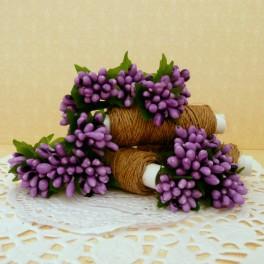 Pręciki drobne w kiściach 5 szt. fioletowe