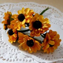 Słoneczniki drobne 25 mm żółte