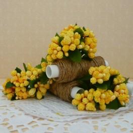 Pręciki w kiściach 6 szt. żółte