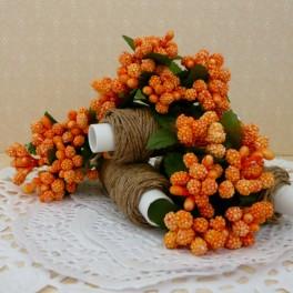 Pręciki w kiściach 6 szt. pomarańczowe