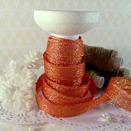 Wstążka brokatowa 12 mm pomarańczowa