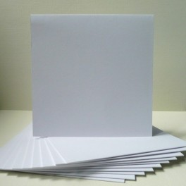 Bazy kwadratowe, 13,5 cm, białe, 50 szt.