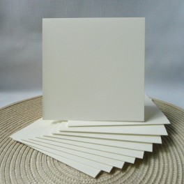Bazy kwadratowe, 13,5 cm, kremowe, 10 szt.