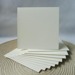 Bazy kwadratowe, 13,5 cm, kremowe, 50 szt.