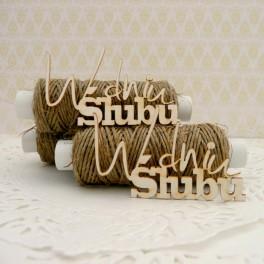 W dniu ślubu - napis