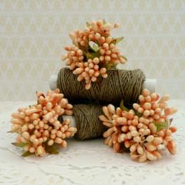 Pręciki drobne perłowe w kiściach 5 szt. łososiowe