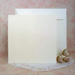Bazy kwadratowe + koperty, kremowe, 10 szt.