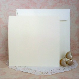 Bazy kwadratowe + koperty, kremowe, 50 szt.