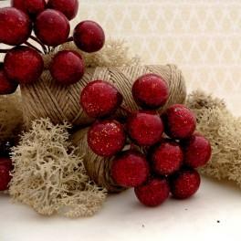 Owoce głogu błyszczące czerwone