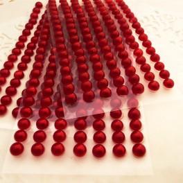 Półperełki 5 mm czerwone 112 szt.