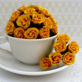 """Różyczki """"bibułki"""" żółte"""