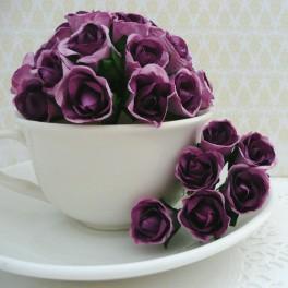 """Różyczki """"bibułki"""" fioletowe"""