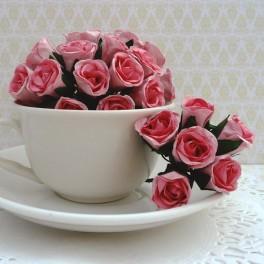 """Różyczki """"bibułki"""" różowe"""