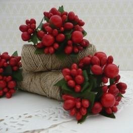 Pręciki świąteczne czerwone 6 szt.
