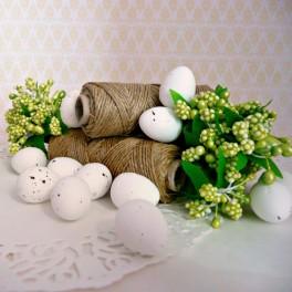 Jajka przepiórcze 1,8 cm białe 6 szt.