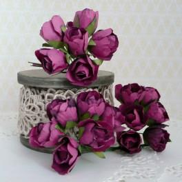 Pąki róż wrzosowe