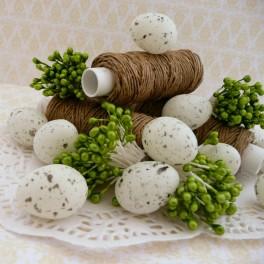 Jajka przepiórcze 2,5 cm białe 6 szt.