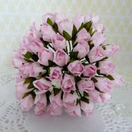 Pączki róż 10 mm różowe