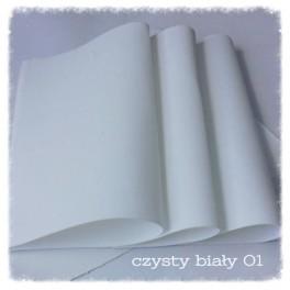 Foamiran 001 - czysta biel