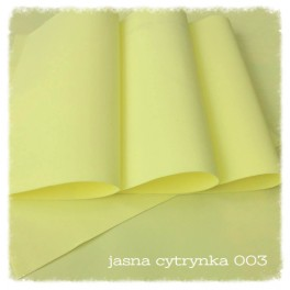 Foamiran 004 - jasna cytrynka