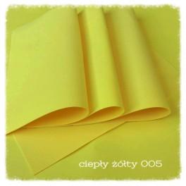 Foamiran 005 - ciepły żółty
