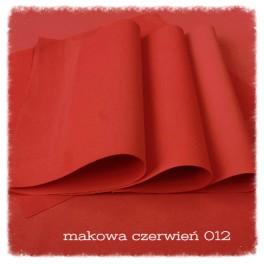 Foamiran 012 - makowa czerwień
