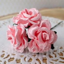Róże marszczone różowe 3 szt.
