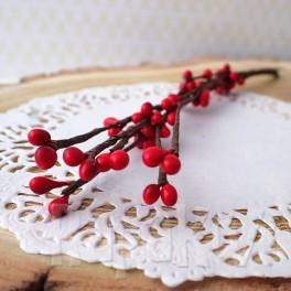Gałązka z pręcikami czerwona