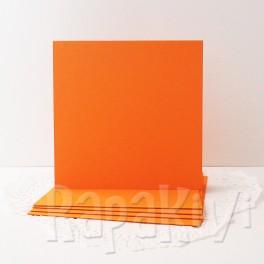 Bazy kwadratowe, pomarańczowe, 5 szt.