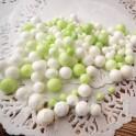Kulki styropianowe biało-zielone