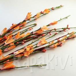 Gałązka kwiatowa pomarańczowo-łososiowa