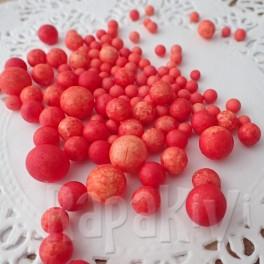 Kulki styropianowe pomarańczowe