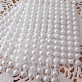 Półperełki 6 mm białe