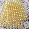 Półperełki 6 mm żółte