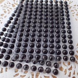 Półperełki 6 mm czarne