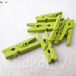 Klamerki drewniane 6 szt. zielone