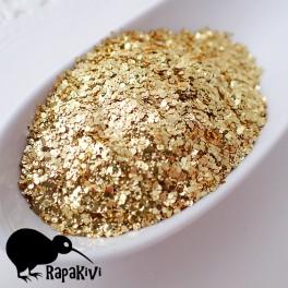 Brokat 1 mm złote łamańce