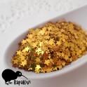 Brokat gwiazdki 4 mm złote