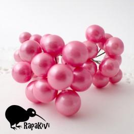 Kule perłowe 10 mm różowe 10 szt.