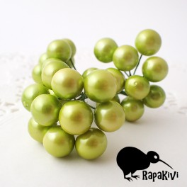 Kule perłowe 10 mm jasnozielone 10 szt.