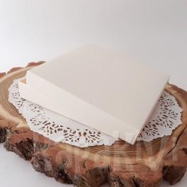 Pudełko na kartkę kwadratowe, 300 g, kremowe