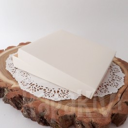 Pudełko na kartkę kwadratowe + baza, kremowe