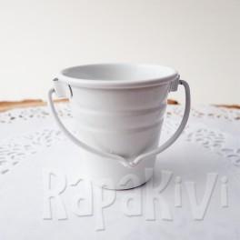 Wiaderko 4,5 cm białe tłoczone