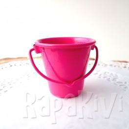 Wiaderko 4,5 cm różowe